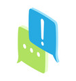 chat icons in blue and green colors on white vector image