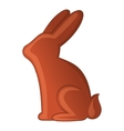 Chocolate bunny icon cartoon style vector image vector image