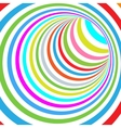 Colorful Striped Abstract Tunnel vector image vector image