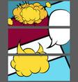 comic balloon horizontal geometric banner vector image vector image