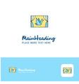 creative window logo design flat color logo place vector image