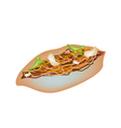 Delicious Yakisoba Pan on A White Background vector image vector image