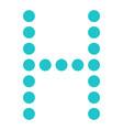 digital letter h display board round dot vector image vector image
