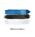 estonia watercolor national country flag icon vector image vector image