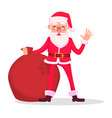 funny santa claus in glasses vector image