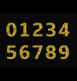 golden broken numbers vector image