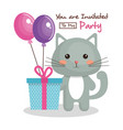 happy birthday card with tender animal