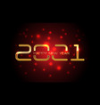 happy new year 2021 gold red light blur black vector image