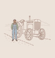 harvest and working on farm concept vector image