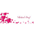horizontal valentines day background design with vector image vector image