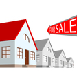 house and the arrow labeled for sale on a white ba vector image