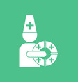 icon doctor with lifebuoy vector image vector image