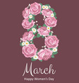 international happy womens day 8 march holiday vector image vector image