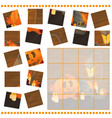jigsaw puzzle game for children with pumpkins - vector image vector image