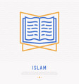koran thin line icon modern vector image