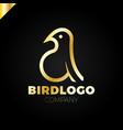 line art bird logotype design template colorful vector image