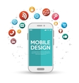 mobile design with various application vector image