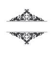 ornate frame scroll element vector image vector image