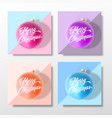 pastel colors gentle christmas greeting cards vector image