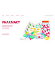 pharmacy landing page vector image vector image