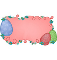 pink easter banner vector image vector image