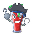 pirate character tasty beverage fruit watermelon vector image vector image