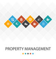 property management trendy ui template vector image