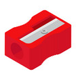 red pencil sharpener isolated on white background vector image vector image