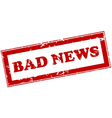 Red stamp with bad news vector image vector image