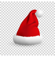 santa claus hat isolated on transparent vector image vector image