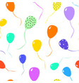 seamless pattern of colorful ballons vector image