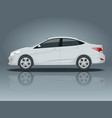 sedan car compact hybrid vehicle eco-friendly hi vector image vector image