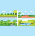 set of flat landscape vector image vector image