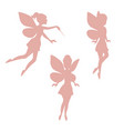 Set of silhouettes of fairies set of silhouettes
