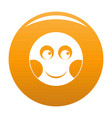 smile icon orange vector image