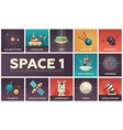 space - set of flat design infographics elements vector image