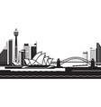 sydney skyline day vector image