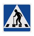 traffic sign pedestrian crossing elderly vector image vector image