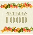 Vegetarian food Background design with stylized vector image