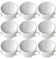 white cups seamless background vector image vector image
