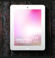 white tablet pc with blurred background vector image