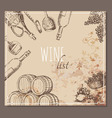 Wine list cards Menu cards sketch vector image vector image