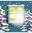 winter snow four seasons nature landscape vector image