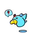 Flying bird on white background vector image