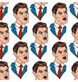 businessman pop art style vector image