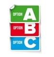 A B C letters progress bar vector image vector image
