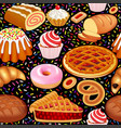 a beautiful seamless background with pastries vector image vector image