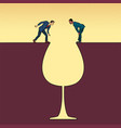 a glass wine and alcoholics vector image