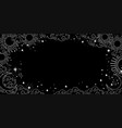 a mystical heavenly black banner with copy space vector image vector image