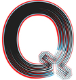 abstract font letter q vector image vector image